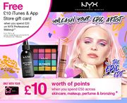 FREE £10 iTunes & App Store Voucher with £20 Spend on NYX Professional Makeup