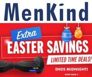 Menkind Up to 50% off Easter Sale - Ends Midnight Tonight!