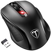 Wireless Mouse, Patuoxun 2.4G USB Cordless Mouse with Nano Receiver, 6 Buttons