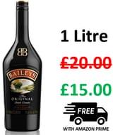 BAILEYS Irish Cream 1 Litre - Only £15!