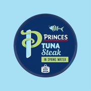 12 X PRINCES TUNA STEAK in SPRING WATER 160G - Free Delivery
