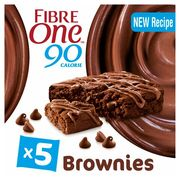 Fibre One Chocolate Fudge Brownie 5 X 24G - Clubcard Price - Only £1.25!