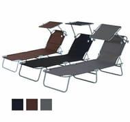 Reclining Sun Lounger Chair Folding Recliner Garden. Free Delivery