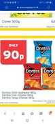Doritos Cool \ Chilli \ Cheese 180g Pack Down From £2 to £0.9