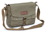 Gootium Vintage Canvas Messenger Bag Mens Crossbody Bag