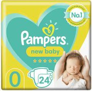 Pampers New Baby Size 0 Nappies Carry Pack X24