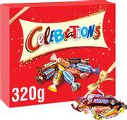 Celebrations Chocolate Gift Box, (Maltesers, Galaxy, Snickers and More), 320g