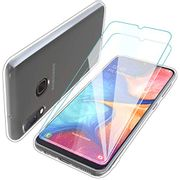 Clear Case for Samsung Galaxy A20e with Tempered Glass Screen Protector [2 Pack]