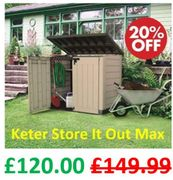 Keter Store-It out MAX | Garden Storage Shed | Save £29.99 at AMAZON