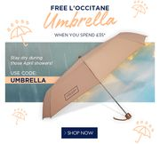 24 Hours Only: Free L'OCCITANE Umbrella When You Spend £35*