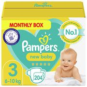 Pampers Nappies Size 3 (204 Nappies)