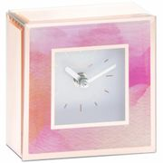 Pink Watercolour Glass Clock - 14cm