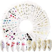54 Sheets Water Transfer Nail Art Stickers