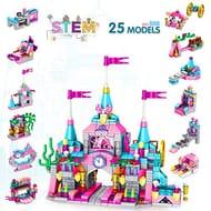 568pcs Princess Castle Building Block Set STEM Learning Toy