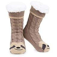 Cute Fluffy Character Sloth Slipper Socks