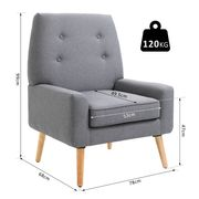 Nordic Single Cushion Padded Chair - Only £80.74!