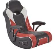 *SAVE £30* X ROCKER G-Force 2.1 Floor Rocker Gaming Chair - Black, Red & White