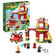 LEGO 10903 DUPLO Town Fire Station, Light Sound Fire Engine and Firemen Figures