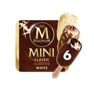 Magnum Mini Ice Cream, Classic, Almond & White 6x55ml