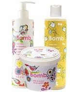 Bomb Cosmetics Honey Glow Cleanse, Exfoliate and Moisturise Bath & Shower Bundle