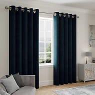 Stellar Thermal Navy Eyelet Curtains