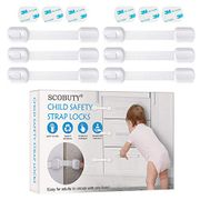 LIGHTNING DEAL - Child Safety Locks,Baby Safety Cupboard Strap Locks