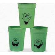 SALE - 12 Glow in the Dark Face Plastic Party Cups