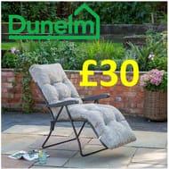 CHEAP! Dunelm - Padded Sun Lounger / Garden Chair