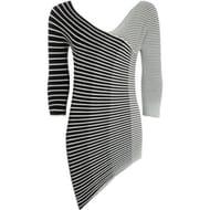 EMPORIO ARMANI Monochrome Striped Top