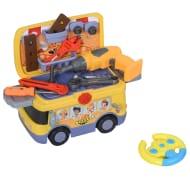 HOMCOM Kids Plastic 24-Piece Pretend DIY Tools Set Yellow