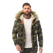 Superdry Mens Rookie Heavy Weather Parka Trad Camo