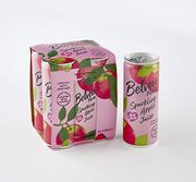 Belvoir Farm Sparkling Pink Lady Apple Juice, 250ml (4 Can Pack)