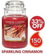 Yankee Candle Large Jar Scented Candle | SPARKLING CINNAMON