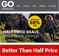 Go Outdoors Sale - Half Price & Better Deals