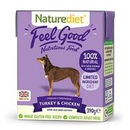 Naturediet Feel Good Turkey and Chicken Complete Wet Food 390g X 18