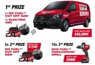 Win a Zero Emission Mercedes Evito Van + Mx Fuel Cut off Saw