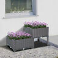 4PC Raised Flower Bed Vegetable Herb