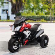 *SAVE £15* HOMCOM Kids 6V Battery Steel Enforced Motorcycle Ride on Trike Red