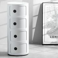4 Tier Bedroom Office round Storage Cabinet