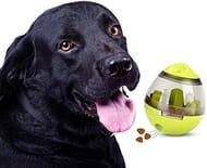 STAJOY Treat Ball Dog Toy Interactive Food Dispenser(GREEN)