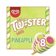 Twister Mini Ice Cream Lolly Pineapple, Lemon-Lime and Strawberry 8x50ml