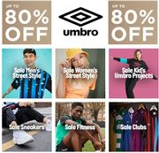 Umbro Sale - up to 80% off Sports Wear, Street Style, & Trainers