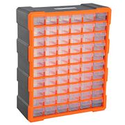 DURHAND 60 Drawers Parts Organiser Wall Mount Storage Cabinet