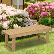 Outsunny 2-Seater Outdoor Indoor Garden Wooden Bench Patio Loveseat