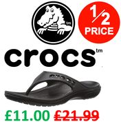1/2 PRICE! CROCS Baya Flip Flops + FREE DELIVERY WITH PRIME