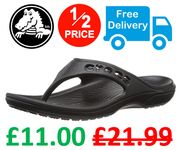 1/2 PRICE SALE | CROCS BAYA ADULT FLIP FLOPS | Black or Navy