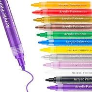 DEAL STACK - Acrylic Paint Pen 12 Colors Suit + 15% Coupon