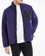 Purple Borg Lined Zip through Jacket