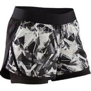 Girls' Breathable Double Gym Shorts