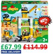 PRICE DROP! SAVE £47! LEGO DUPLO Tower Crane & Construction